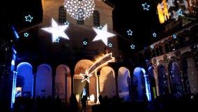 Navidad de la catedral de Salerno almacen de metraje de vídeo