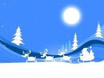 Navidad de la luna significa Feliz Navidad y la celebración Imágenes de archivo libres de regalías