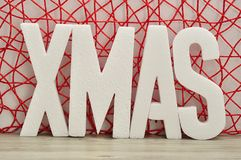 Navidad de la palabra Imagen de archivo libre de regalías
