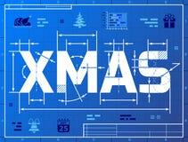 Navidad de la palabra le gusta el dibujo del modelo Imágenes de archivo libres de regalías