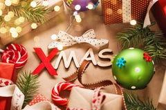 Navidad de las decoraciones de la Navidad Fotografía de archivo