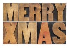 Navidad de Meyy en el tipo de madera fotografía de archivo