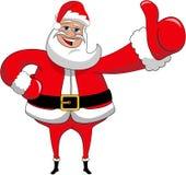 Navidad de Santa Claus Happy Big Thumb Up aislada Imagenes de archivo