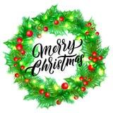 Navidad del vector enciende la decoración y la fuente libre illustration