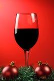 Navidad del vino rojo. Imágenes de archivo libres de regalías
