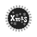 Navidad Frase de la caligrafía El cepillo manuscrito sazona las letras Frase de Navidad Elemento drenado mano holidays Tarjeta de libre illustration