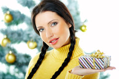 Navidad hermosa del amarillo Fotos de archivo