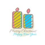 Navidad mira al trasluz la decoración Fotografía de archivo