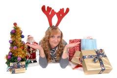Navidad, mujer de la Navidad Imagenes de archivo