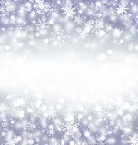 Navidad purple background with snowflakes and copy space for you Royalty Free Stock Image
