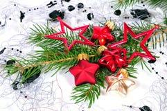 Navidad roja de las bolas de la Navidad Fotografía de archivo