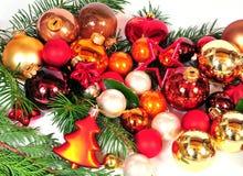 Navidad roja de las bolas de la Navidad Imagen de archivo libre de regalías