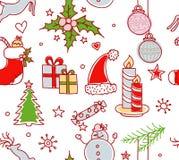 Navidad se opone el modelo inconsútil Fotografía de archivo libre de regalías