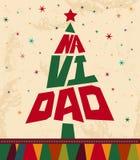Navidad - texte d'Espagnol de Noël Photo stock
