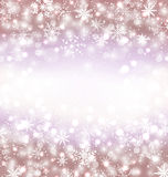 Navidad winter background with snowflakes and copy space for you Stock Photos