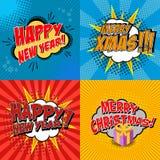 Navidad y Año Nuevo Imágenes de archivo libres de regalías