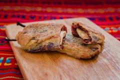 Navideños de Chipotles con el queso blanco, comida mexicana tradicional para la Navidad foto de archivo libre de regalías