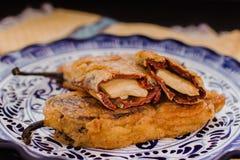 Navideños de Chipotles con el queso blanco, comida mexicana tradicional para la Navidad fotografía de archivo libre de regalías