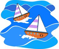 Navigação ilustração royalty free
