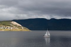 Navigação através da baía imagens de stock royalty free