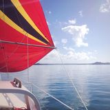 Navigação azul calma Fotografia de Stock Royalty Free