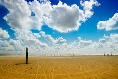 Navigação da terra na praia fotos de stock
