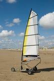 Navigação da terra na praia foto de stock