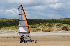 Navigação da terra na praia imagens de stock