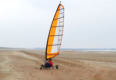Navigação da terra na praia na mola Fotografia de Stock