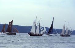 Navigação de Fivesailships foto de stock royalty free
