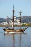 Navigação de Galleon no rio de Colômbia OU. Imagens de Stock