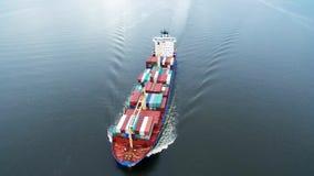 Navigação do navio de carga no mar video estoque