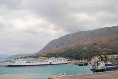 Navigação do navio de cruzeiros do porto Fotos de Stock