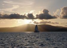 Navigação do por do sol Foto de Stock