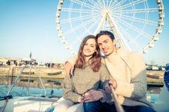 Navigação dos pares no barco Fotografia de Stock Royalty Free
