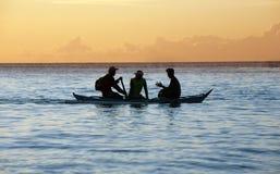 Navigação e por do sol Fotografia de Stock Royalty Free