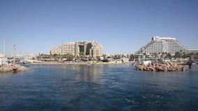 Navigação em um barco no Mar Vermelho Eilat video estoque