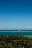 Navigação entre os recifes Foto de Stock