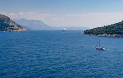 Navigação fora da costa Dalmatian Fotografia de Stock
