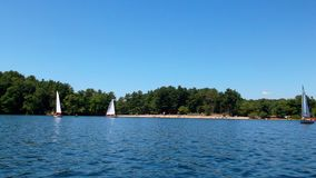Navigação no lago Foto de Stock