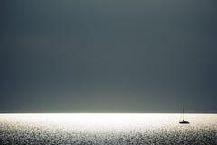 Navigação no por do sol Foto de Stock