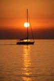 Navigação no por do sol Fotos de Stock Royalty Free