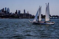 Navigação pela skyline Foto de Stock Royalty Free