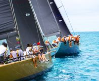 A navigação yachts a regata yachting sailing fotografia de stock royalty free