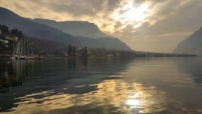 Navigable alpine lakes Stock Photos