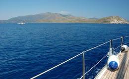 Navigando con il vento in mare adriatico Immagini Stock Libere da Diritti