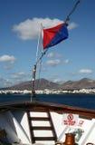 Navigando a Lanzarote, la Spagna Fotografia Stock