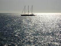 Navigando nel mare d'argento Immagine Stock Libera da Diritti