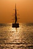 Navigando nel tramonto Fotografia Stock
