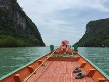 Navigando nella barca Fotografia Stock